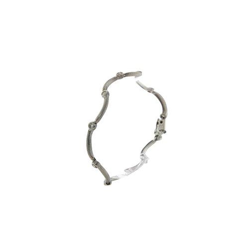 Weißgold-Armband mit Diamant 9 Karat