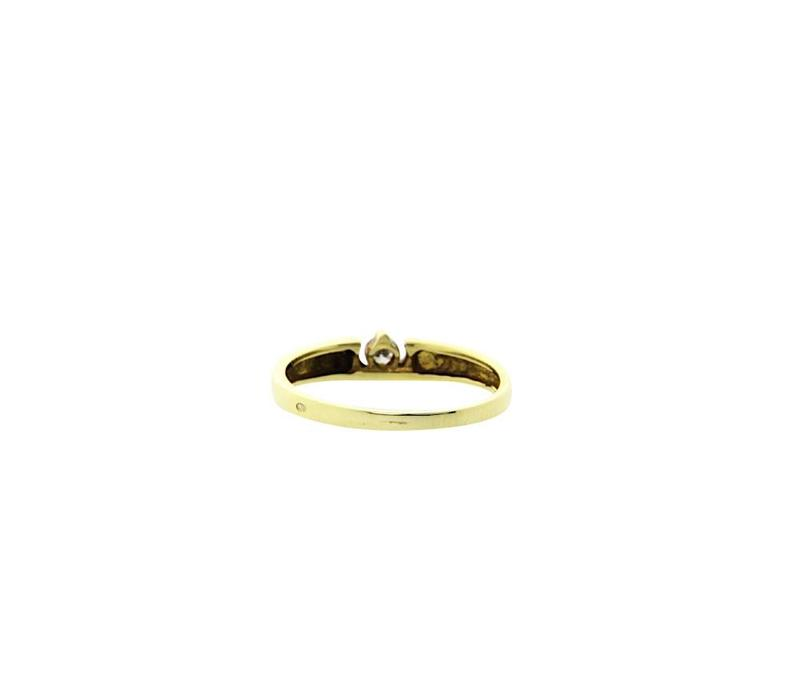 Goldring mit Diamant 14 Cr