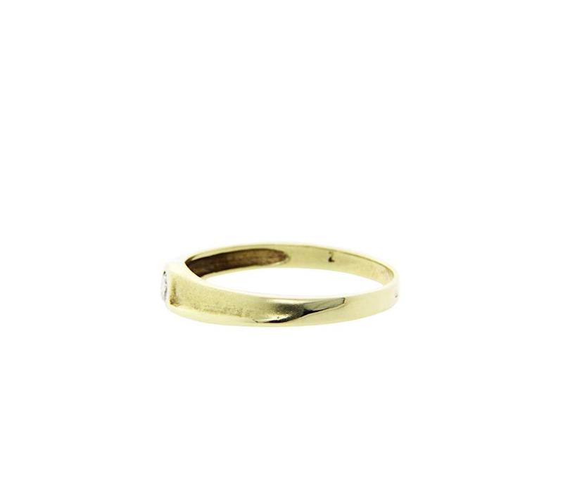 Gold ring with zirconia 14 krt * New