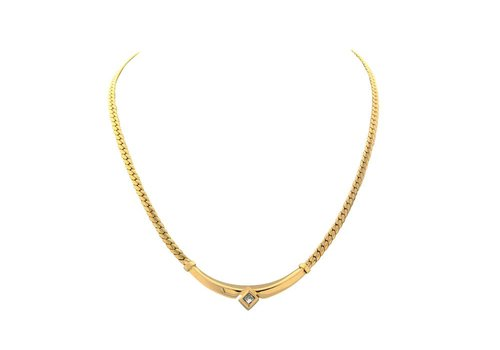 Golden choker with diamond 18 crt