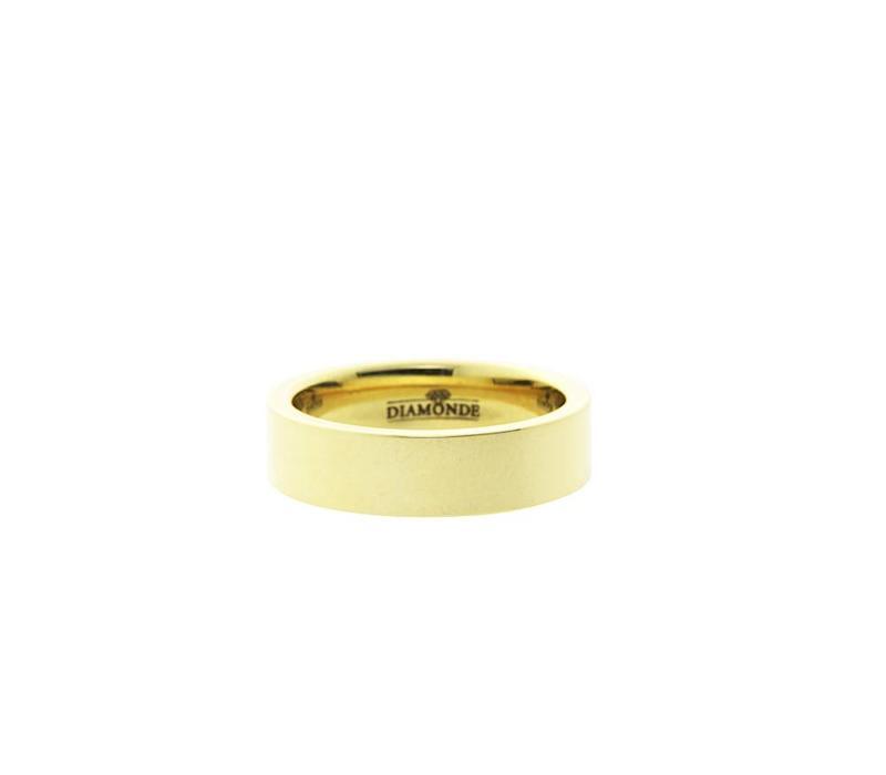Goldring mit Diamant von Diamant 14 krt * neu