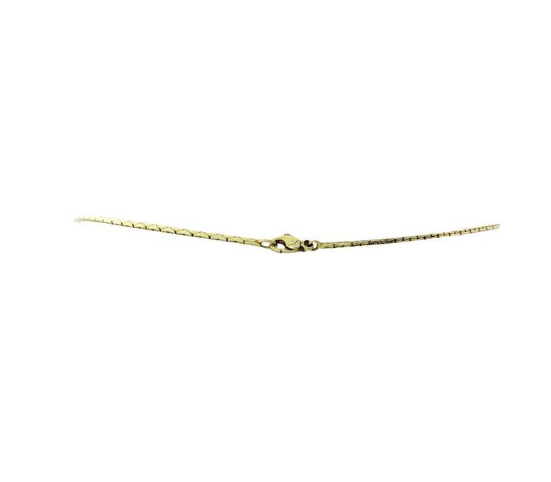 Goldhalskette mit Diamantanhänger 14 krt * Neu