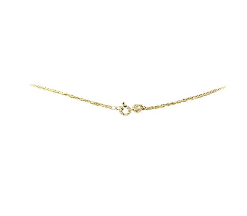 Golden fantasy necklace with diamond 14 crt