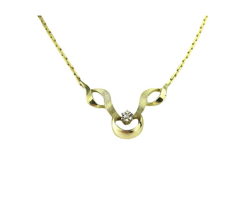 Golden fantasy necklace with choker 14 krt