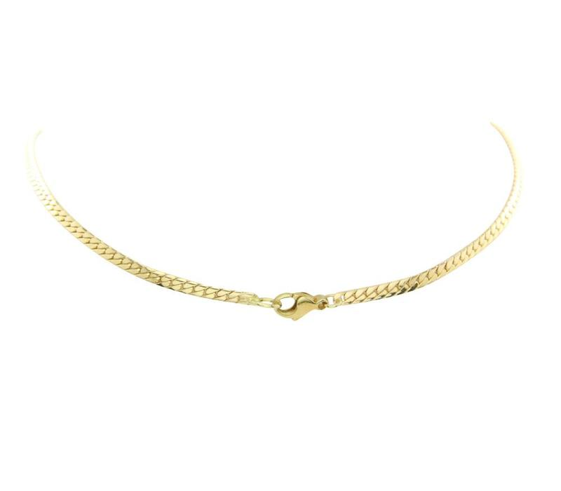 Bicolour gold fantasy necklace with diamond 14 crt
