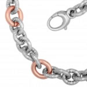 La Mode rosé vergoldete Stahl Damen Halskette * neu
