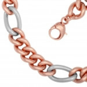La mode rose verguld staal double dames collier *nieuw