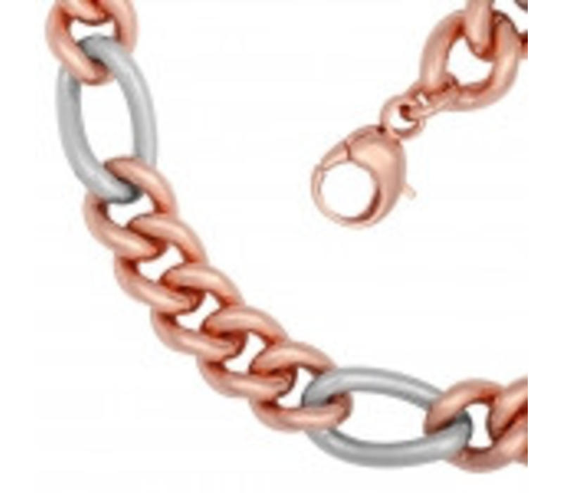 La fashion rose gold plated steel double ladies necklace * new