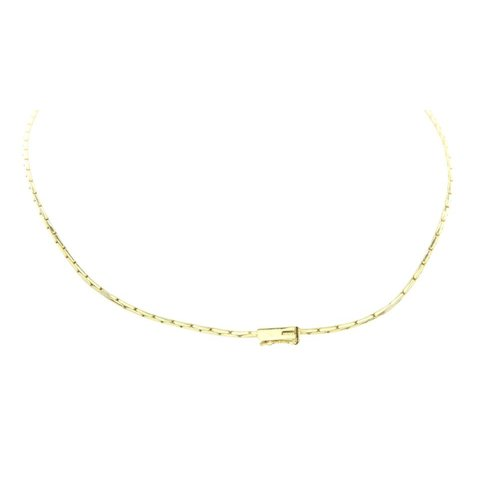Golden necklace with diamond 14 krt