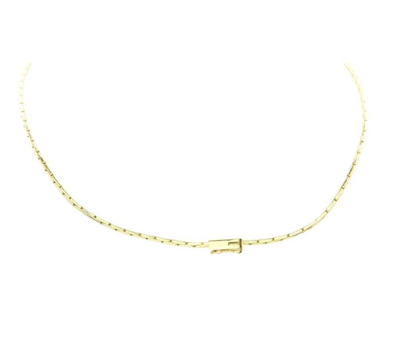Gold necklace with diamond 14 crt