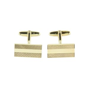 Golden cufflinks 14 krt