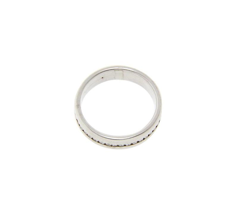 White gold alliance ring with diamond 14 krt