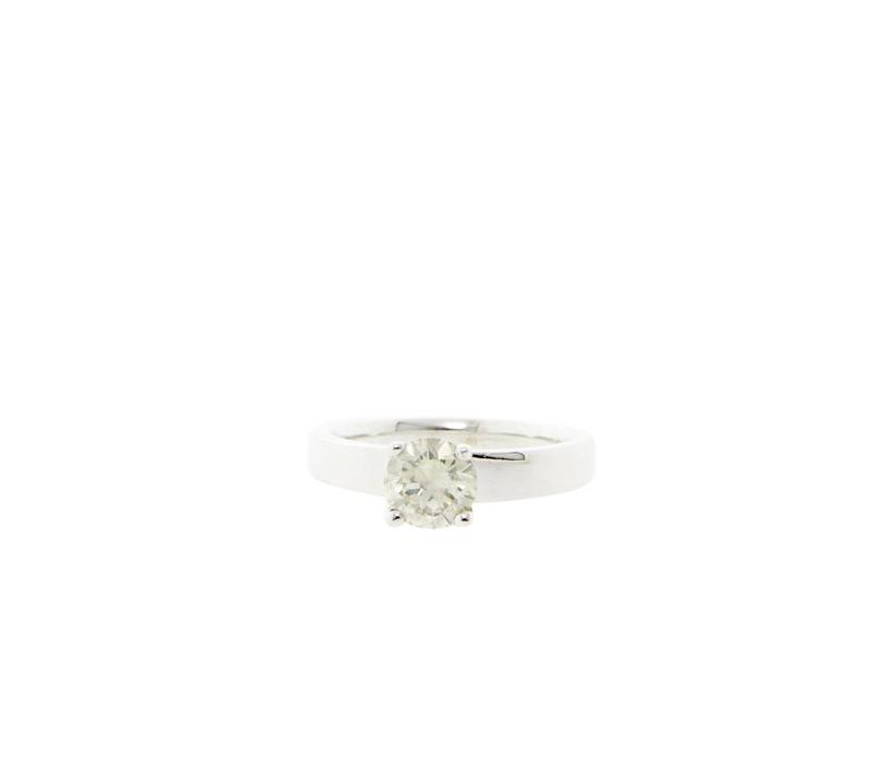 White gold solitaire ring with 0.95 crt. diamond 18 crt * new