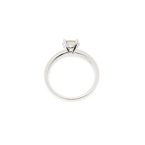 White gold solitaire ring with 0.95 cm. diamond 18 krt * new