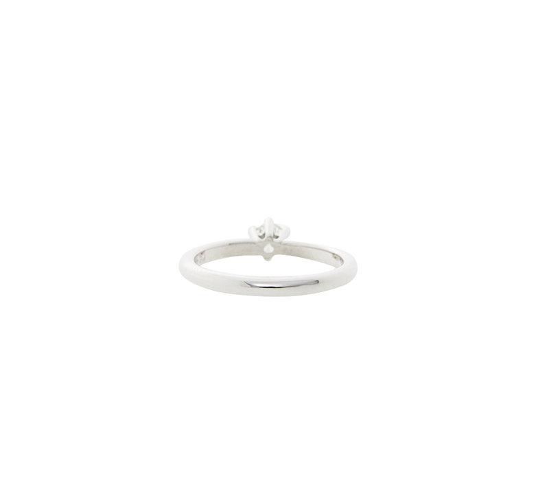Witgouden solitair ring met diamant 0.33crt. 14 krt * Nieuw