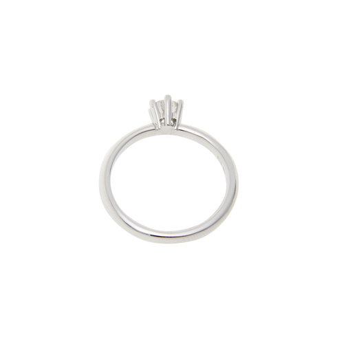 White gold solitaire ring with diamond 0.33ct. 14 krt * New