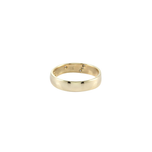 Golden ring bicolour with diamond 14 crt