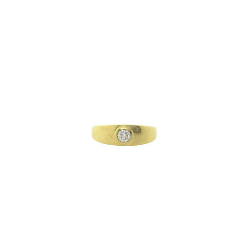 Goldener Ring mit Diamant 14 Karat
