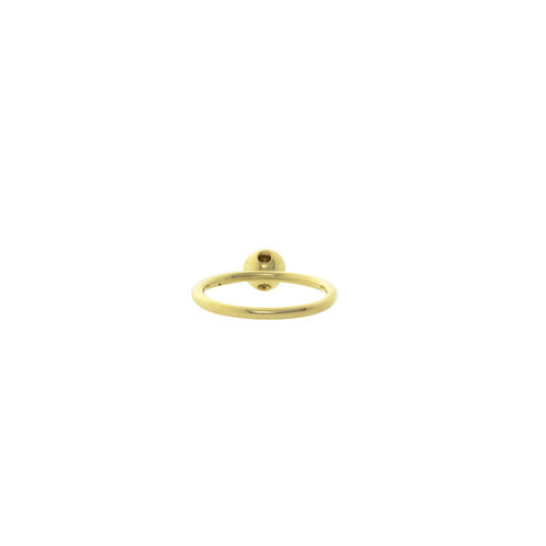 Gold extension ring with pink zirconia 14 krt