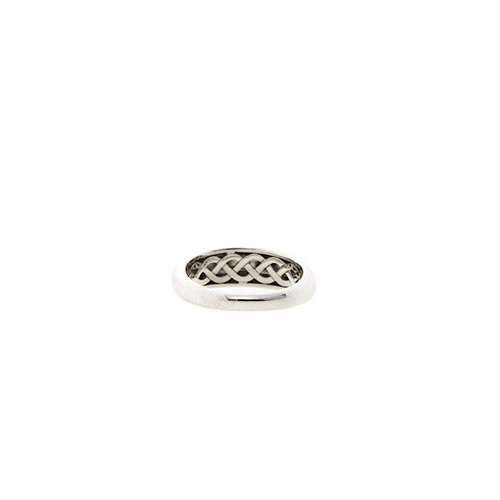 White gold smooth ring from Blush 14 krt * new