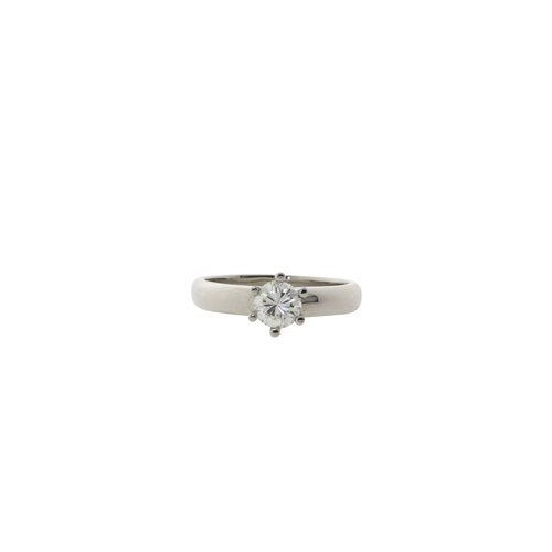 White gold solitaire ring with diamond 0.60 cm. 14 krt * new