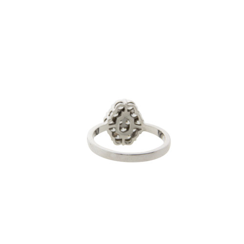 White gold ring with diamond 18 krt