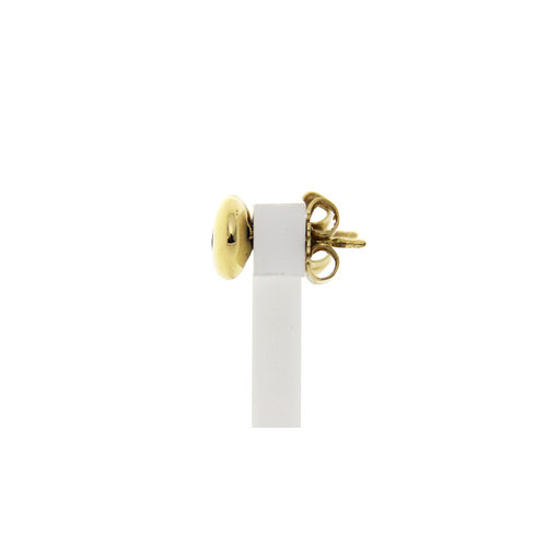 Gold Solitaire Ohrstecker mit Diamant 18 Crt