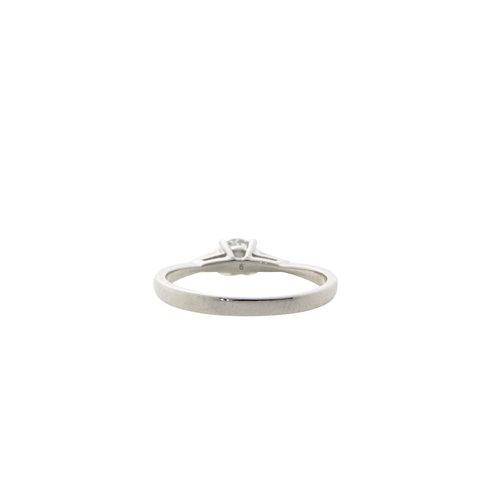 Witgouden ring met diamant 14 krt* nieuw