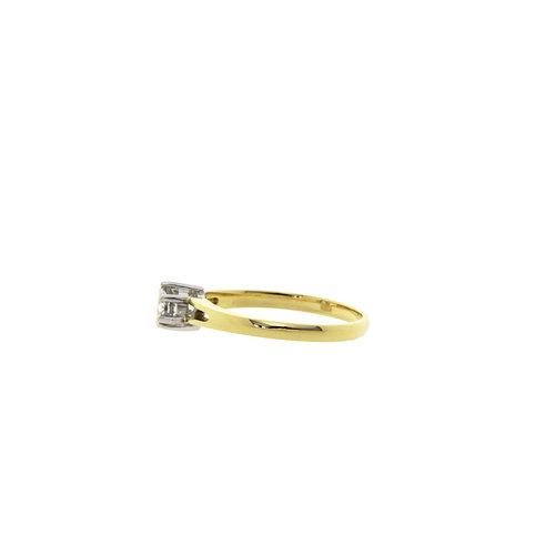 Gouden solitair ring met diamant 0.32crt. 18 krt
