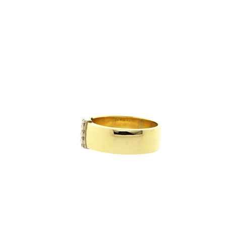 Gouden ring met diamant 18