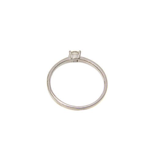 White gold solitaire ring with diamond 14 crt