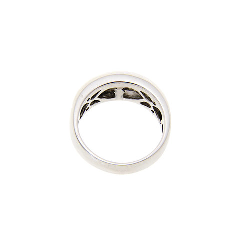 White gold ring with diamond 18 krt