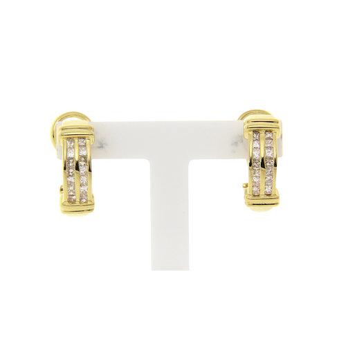 Gold earrings with diamond 18 krt