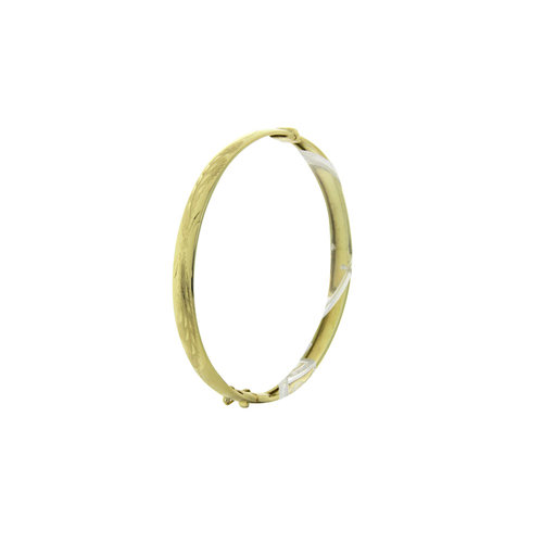 Gold slave bracelet with engraving 14 krt
