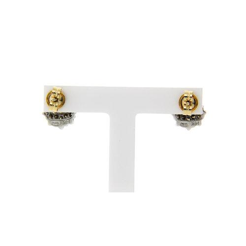 White gold entourage earrings with diamond 14 krt