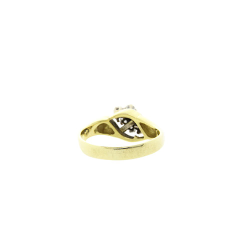 Gold ring with diamond 13 krt