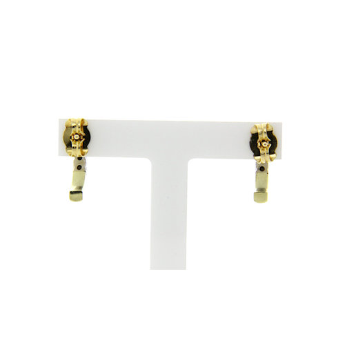 Gold ear studs with diamond 14 krt