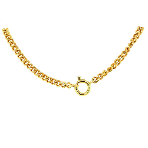 Gold gourmet necklace 46.5 cm 14 krt