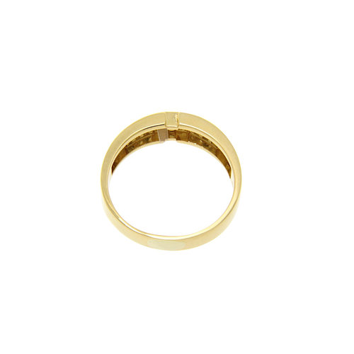 Gold ring with diamond 18 krt