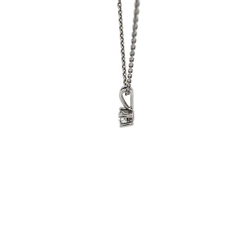 White gold solitaire pendant with diamond 14 krt * new