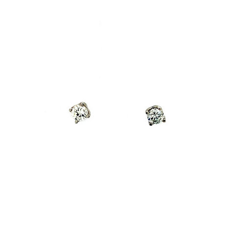 White gold solitaire earrings with diamond 18 krt * new