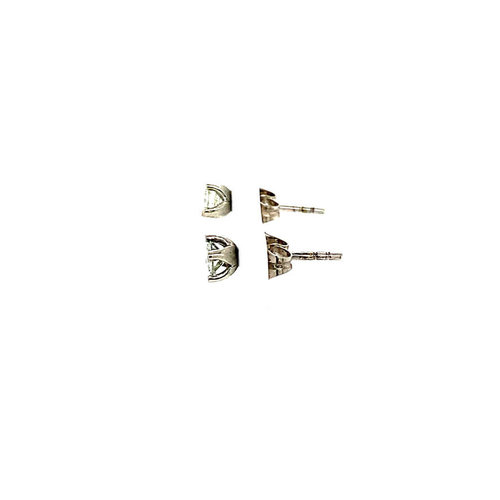 Witgouden solitair oorstekers met diamant 18 krt *nieuw