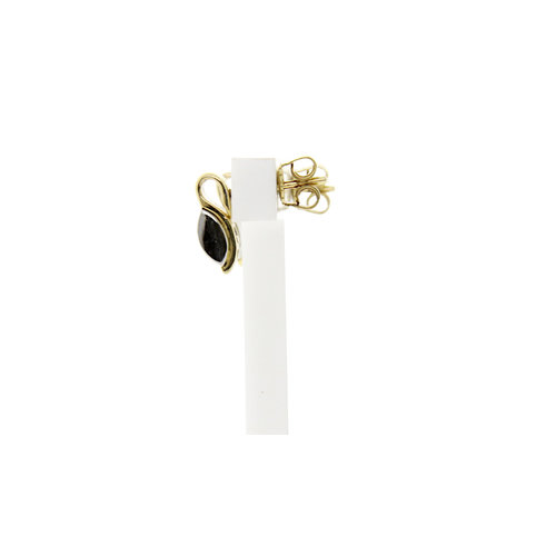Gold ear studs with diamond 14 krt * new