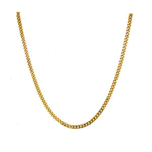 Gold length necklace gourmet 41 cm 14 krt