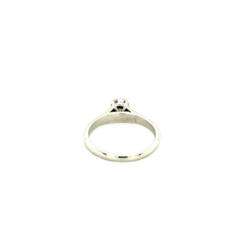 Witgouden solitair ring met diamant 0.50ct. 14 krt