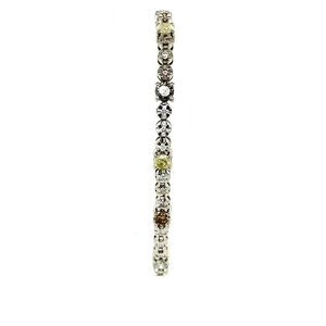 White gold tennis bracelet 14 krt