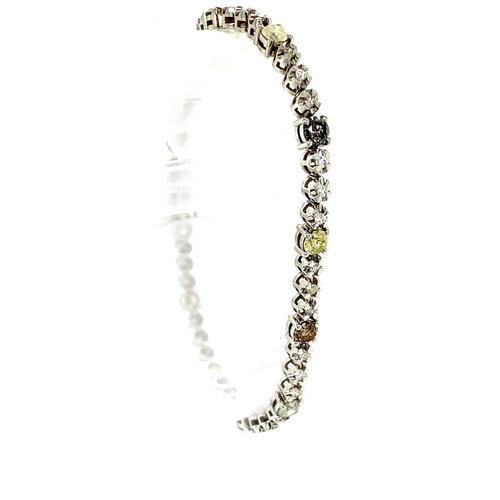 Weißgold Tennisarmband 14 krt
