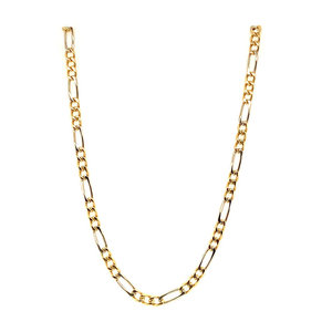Gold men's figaro necklace 61 cm 18 krt