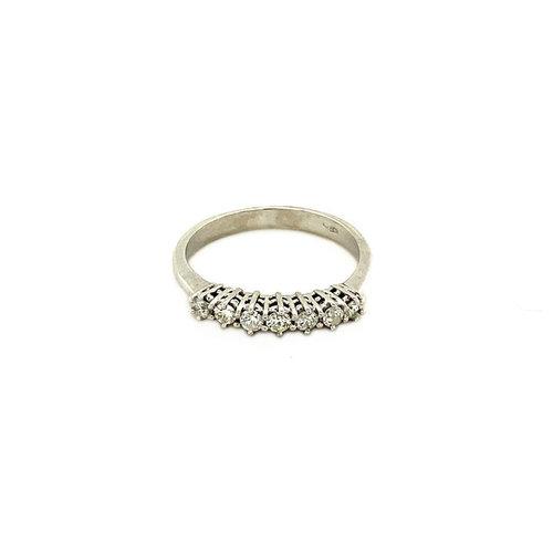 Weißgoldring mit Diamant 18 krt