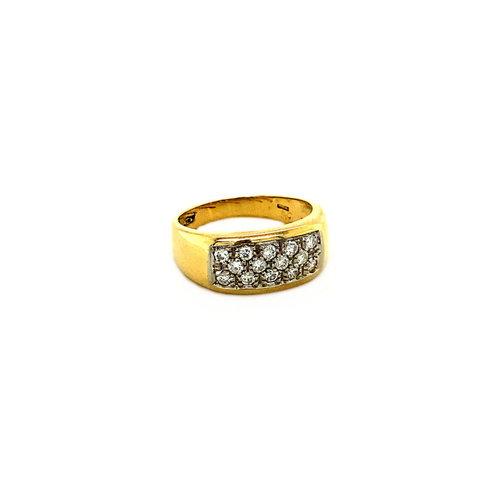 Goldring mit Diamant 18 krt